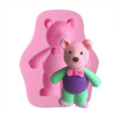 3D Teddy Bear Silicone Fondant Mold Cake Soap Cookies Chocolate Baking Mould