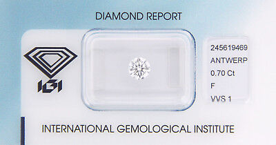 Diamant 0,70ct F VVS 1