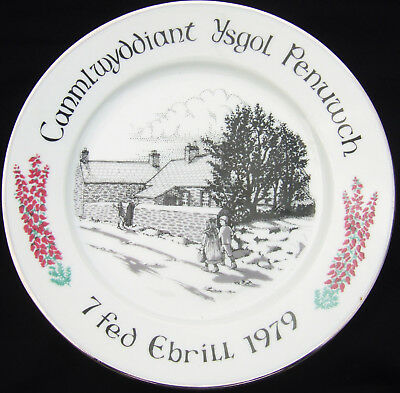 Wales Boncath Pottery Plate : Centenary of Penuwlch School 1979 (in Welsh)