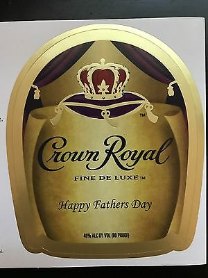 Crown Royal 'Happy Fathers Day' Custom Label (1.75 L)