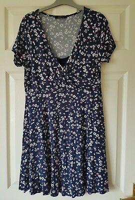 Floral jersey Maternity and nursing/breast feeding dress. Size 12