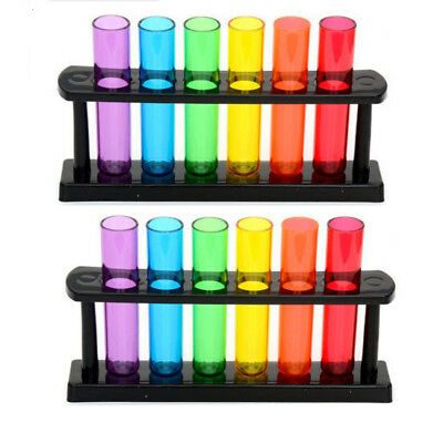 12 x TEST TUBE SHOOTERS LAB STYLE RACK PARTY DRINKING BAR SHOTS BOMB PUB DRINKS