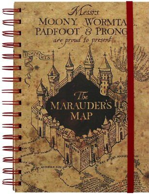 Harry Potter A5 Wirebound Lined Notebook Marauders Map