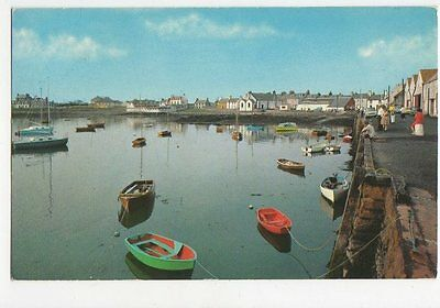 The Harbour Isle of Whithorn Old Postcard 0857