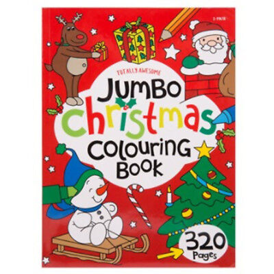 Kids Large Jumbo Christmas Colouring Book Childrens Xmas Gift Filler 320 Pages