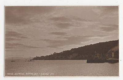 Sunrise, Rothesay, Judges 6093 Postcard, A935