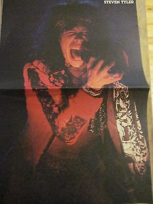 Steven Tyler, Aerosmith, Slaughter, Double Two Page Vintage Centerfold Poster