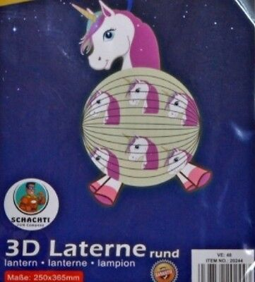 2 STK Lantern Unicorn Decorative Procession Lampions Children Party