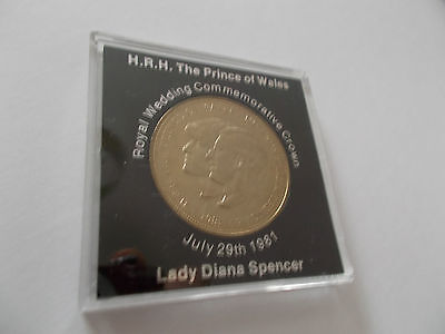 Royal Wedding Coin- HRH Prince Charles & Lady Diana Spencer 1981 in perspex Case