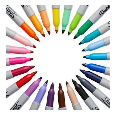 SHARPIE FINE Point Bullet Tip Permanent Marker Pens Mixed colours Black Red