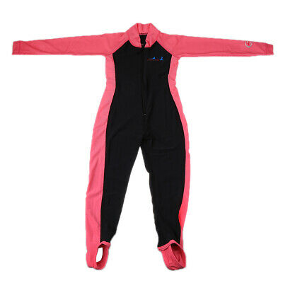 Kids Boys Girls Swimwear Swimming Diving Wetsuit Long Sleeve Front Zip Full Suit