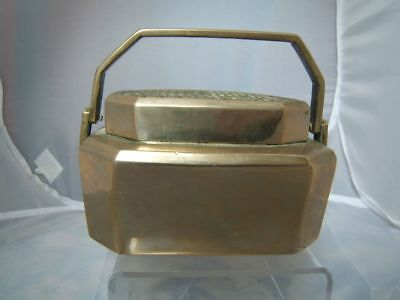 Chinese paktong metal brazier / hand warmer C19th