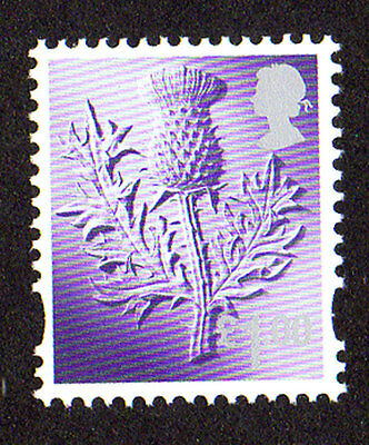 2015 Scotland S136 £1.00 Thistle Cartor Litho Regional Machin Definitive UMM