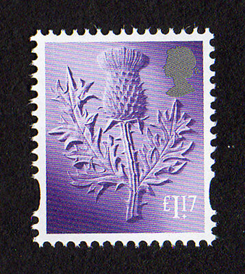 2017 Scotland  £1.17 Thistle Cartor Litho Regional Machin Definitive UMM