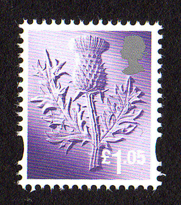 2016 Scotland S137 £1.05 Thistle Cartor Litho Regional Machin Definitive UMM