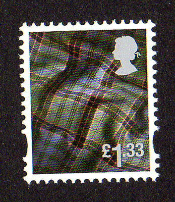 2015 Scotland S144 £1.33 Tartan Cartor Litho Regional Machin Definitive UMM