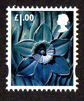 2015 Wales W127 £1.00 Daffodil Cartor Litho Regional Machin Definitive UMM