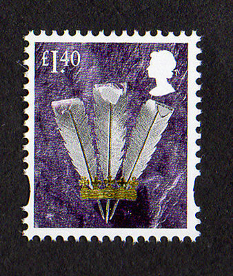2017 Wales £1.40 Feathers Cartor Litho Regional Machin Definitive UMM