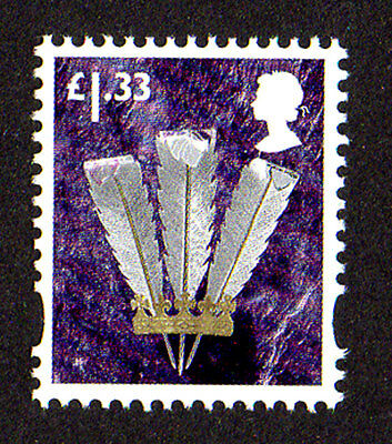 2015 Wales W135 £1.33 Feathers Cartor Litho Regional Machin Definitive UMM