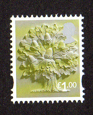 2015 England EN35 £1.00 Oak Tree Cartor Litho Regional Machin Definitive UMM