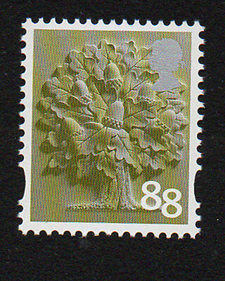 2013 England EN33 88p Oak Tree Cartor Litho Regional Machin Definitive UMM