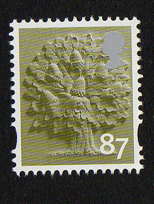 2012 England EN32 87p Oak Tree Cartor Litho Regional Machin Definitive UMM