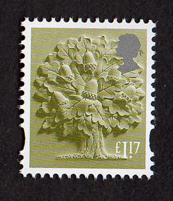 2017 England  £1.17 Oak Tree Cartor Litho Regional Machin Definitive UMM