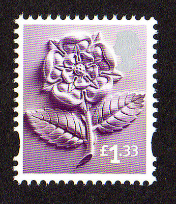 2015 England EN43 £1.33 Tudor Rose Cartor Litho Regional Machin Definitive UMM