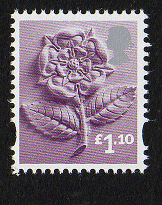 2011 England EN41 £1.10 Tudor Rose Cartor Litho Regional Machin Definitive UMM