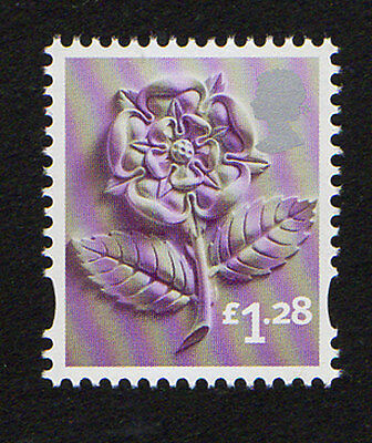 2012 England EN42 £1.28 Tudor Rose Cartor Litho Regional Machin Definitive UMM