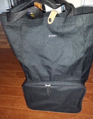 REISENTHEL Foldable trolley Compact Expandable Soft-Shell Bag with Wheels EUC