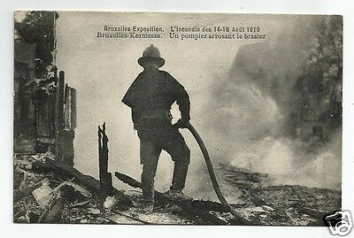 FHD Early Postcard, The Fire, Bruxelles/Brussels Exhibition 1910