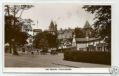 FHC Early Postcard, The Square, Strathpeffer,