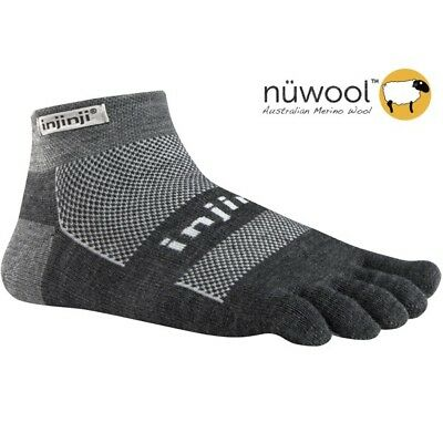 Injinji Outdoor Original Weight Micro Toe Socks- NuWool Charcoal-XL