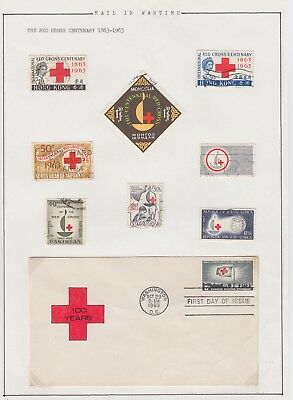 Mail in Wartime - Red Cross Cover - Stamps Centenary Hong Kong etc