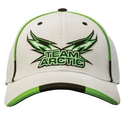 Arctic Cat Team Arctic Flag Wings Fitted Cap - White with Green - 5263-095-096