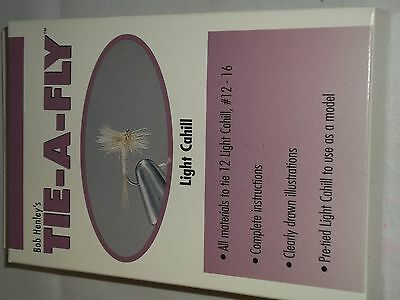 Bob Henley's Tie-a-fly Kit Light Cahill makes 12 flies with directions!