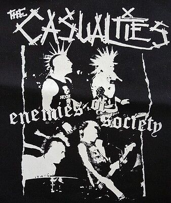 The Casualties Punk Rock Black Canvas Back Patch