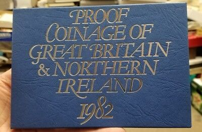 1982 UK Proof Coin Set Great Britain and Northern Ireland