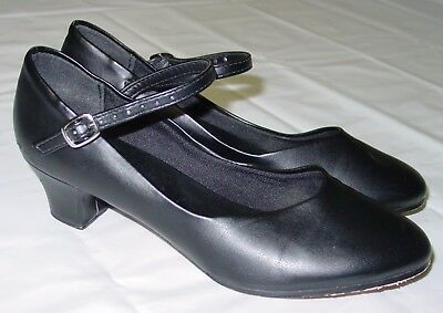 """Womens So Danca Character Shoes 6 M Black Mary Jane CH50 1.5"""" Heel"""