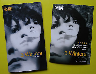 3 Winters - The National Theatre - Theatre Programme & flyer - Sophie Rundle