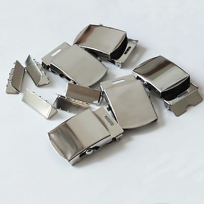 Belt Buckle Blanks and Tips Army Military Work Silver Pack/5 Made in USA