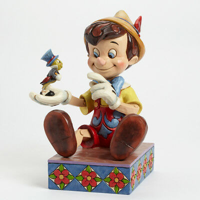 Jim Shore Disney Give a Little Whistle Pinocchio Jiminy Cricket Figurine 4043647