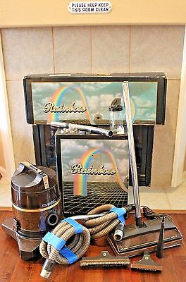 VTG Rexair Rainbow D4C Vacuum Cleaner Power Nozzle R-2800C W Box USA Lot Set EUC
