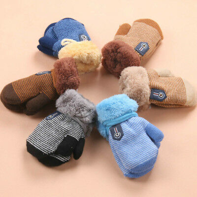 Fashion Cute Thicken Hot Infant Baby Girls Boys Of Winter Warm Cool Gloves