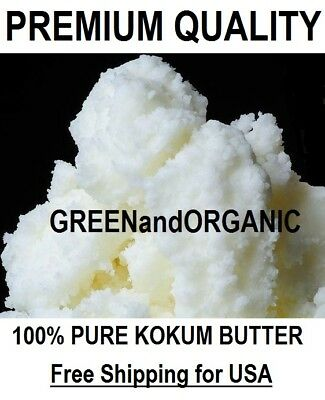 16oz Premium KOKUM BUTTER Natural 100%Pure Cold Pressed Organic RAW Best Quality