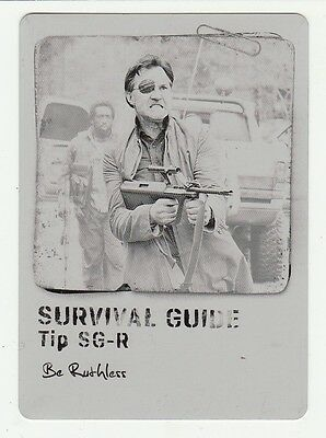 Be Ruthless 2016 Topps Walking Dead Survival Box Printing Plate 1/1 The Governor