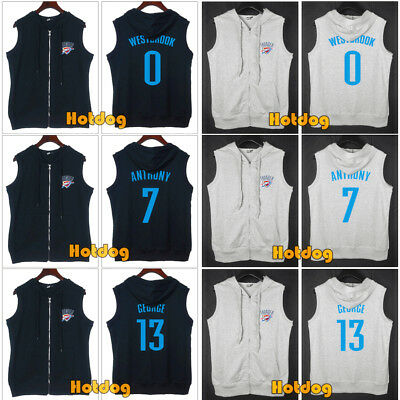 Oklahoma City Thunder OKC NBA Adult Youth T-Shirt Zipper Vest Jersey Sport Top