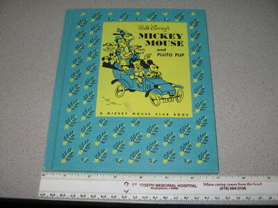 DISNEY Mickey Mouse Pluto Pup 1953 Little Golden book file copy D32 Goldencraft