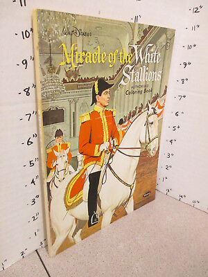 DISNEY Miracle of White Stallions 1963 comic coloring book,Royal Lippizan horse